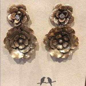 Flores de Oro Statement Earrings